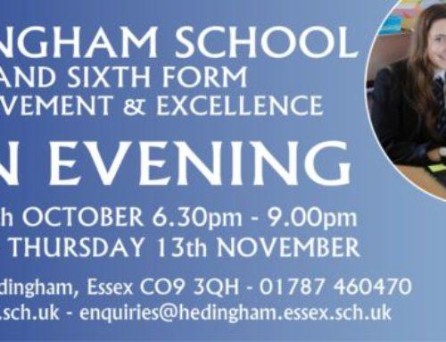 Hedingham School banner