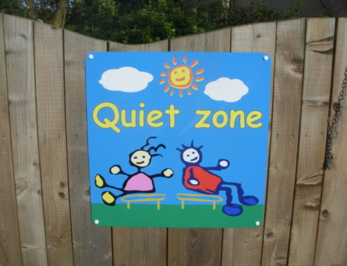 Quiet zone playground school sign