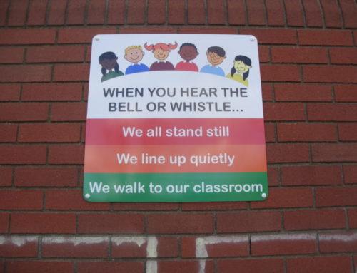 Playground school sign